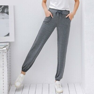 fc4d6848dd Women's Casual Loose Wide Leg Pants Elastic Drawstring Summer Stretch  Trousers