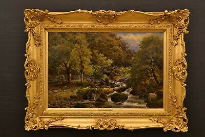 "A Very Fine 19th Century Landscape Oil ""At Abergwynant  Dolgellau"" North Wales."