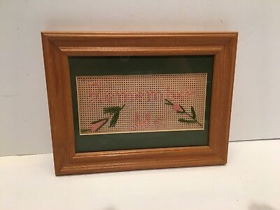 Vintage Antique Framed Sampler - Early to mid 20th Century - Free Shipping