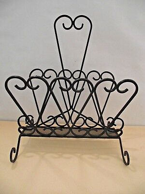 Fantastic Vintage Retro 1950s French Wrought Scrolled Design Magazine Rack 852