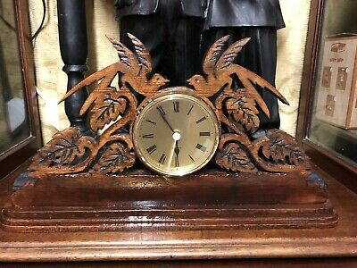 Vintage German Quartz Wooden Clock