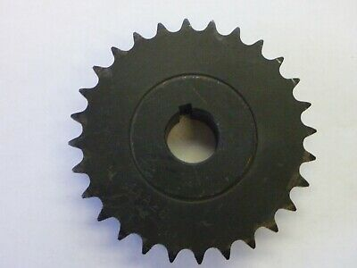 """41B28 X 1""""  Sprocket    #41 Chain 28 Tooth 1"""" Bore With Key Way   2-Set Screws"""
