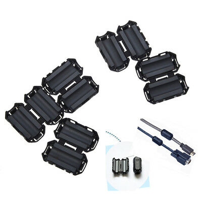 5x Clip On EMI RFI Noise Ferrite Core Filter for 7mm Cable RDR