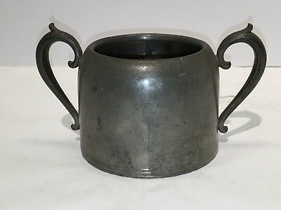 Vintage Antique Pewter Sugar Bowl - Late 19th century - Rockford Pewter Co.