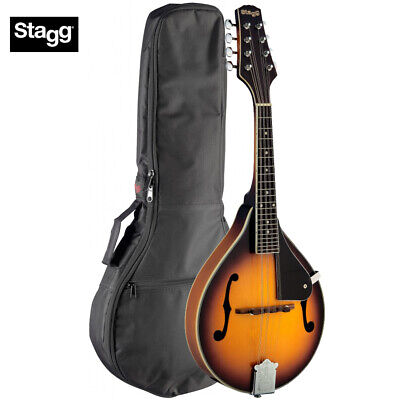 Stagg M40 S Bluegrass A Style Mandolin Solid Spruce Top - Sunburst w/ Gig Bag