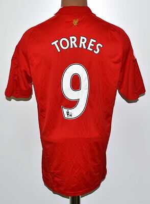 Liverpool England 2008/2009/2010 Home Football Shirt Adidas #9 Torres M Adult