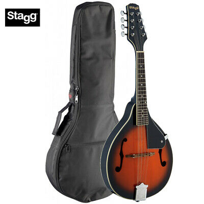 Stagg M20-S Bluegrass A-Style Mandolin with Solid Spruce Top Violinburst w/ Bag