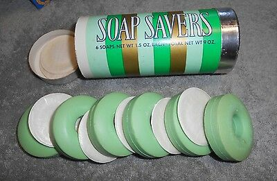 Vintage - Avon -  1973 Lifesavers SPEARMINT Scented 6 SOAP SAVERS