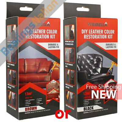 Visbella Leather Color Restoration Repair Kit, Leather Paint Black or Brown