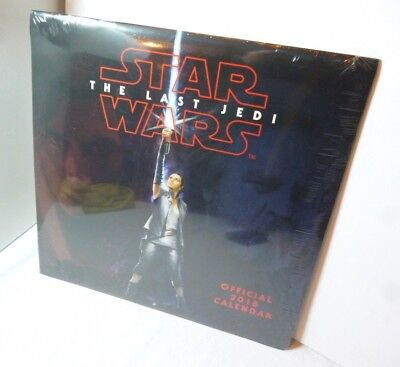 Star wars Official 2018 Calendar Collectors Edition New Sealed The Last Jedi