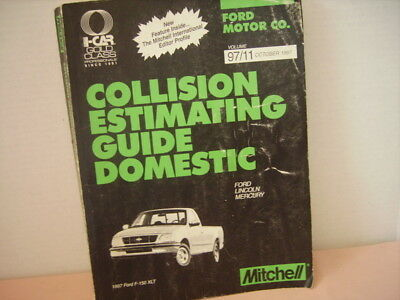 COLLISION ESTIMATING by Mitchell - VINTAGE 1990'S FORD / LINCOLN / MERCURY!