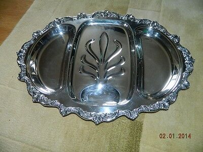 Poole Old English EPCA Silverplate Handled Tray # 5036 1 Post-1940