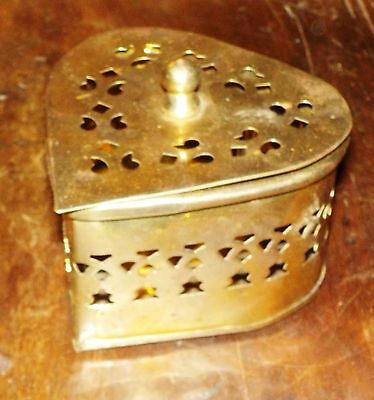 For Your Sweetheart, A Heart Shaped Brass Trinket Box, Cricket Box