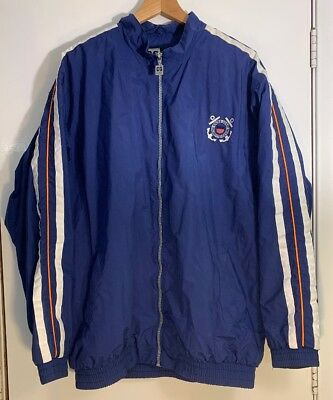 Vintage USCG US Coast Guard Rain Coat Zip Jacket - Size Medium