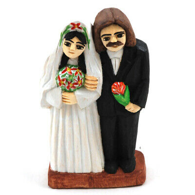 Wedding couple/ Newlyweds/ folk art
