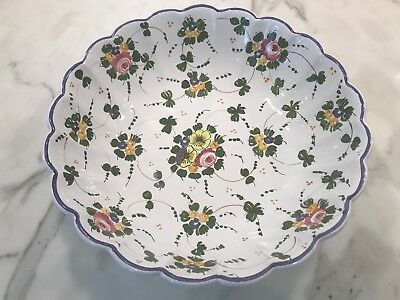 Cottura Collectors Item Handmade Signature Floral Pattern Painted Bowl Large