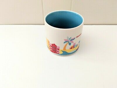 Starbucks MIAMI You Are Here 14oz Coffee Mug Cup YAH Collection DISCONTINUED