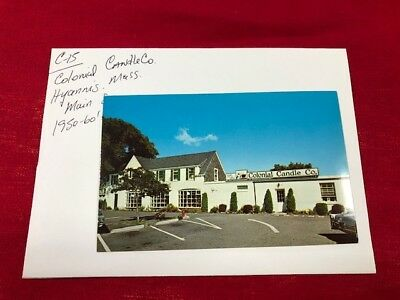 Vintage postcard Colonial Candle company Hyannis Mass Main St 1950's-60's circa