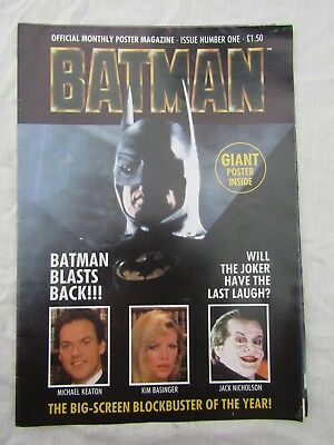 BATMAN OFFICIAL POSTER MAGAZINE issue one large poster