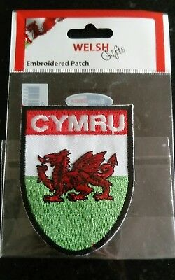 Wales Cymru Embroidered Patch Welsh Dragon Flag Badge Brand New in Packaging