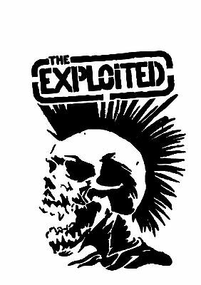 High Detail The Exploited Airbrush Stencil - Free UK Postage