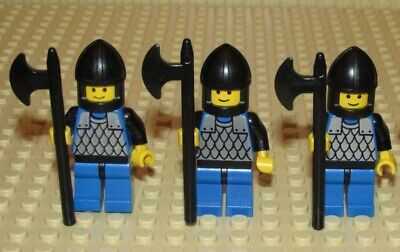 Minifigures Castle Lego Scale Mail Blue Legs Black Helmet 6060 cas141