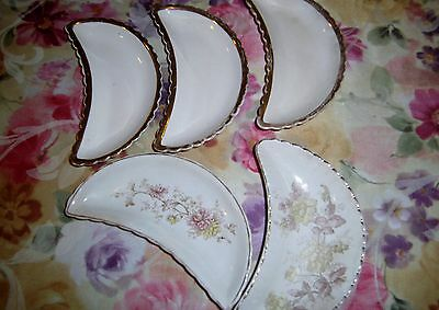Bone Dishes ~ (5) Vintage, Mixed Lot,  Vguc