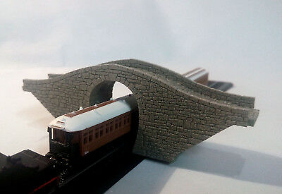 Z Gauge Stone Bridge Single Track New Model Overpass Laser Engraved Pro Painted