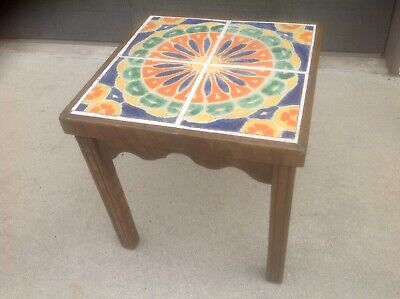 Vintage Monterey Table With California D & M Pottery Tile Top Table 1930'S