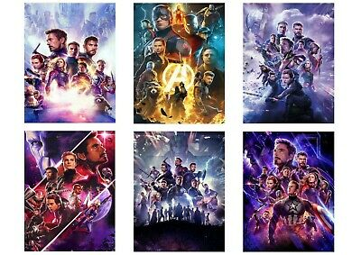 Avengers Endgame: Textless Cinema Posters A5 A4 A3 Movie & DVD Captain America