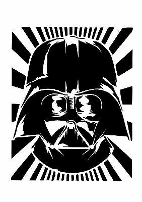 High Detail Darth Vader Airbrush Stencil - Free UK Postage