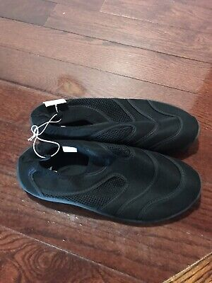 b3657508904e Athletech Water Shoes Size 9 Mens Black New With Tags Pull On Rubber Sole