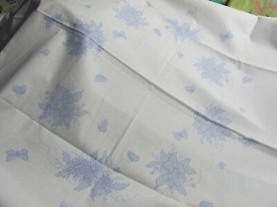 """52"""" X 70"""" Floral Stamped Table Cloth for Cross Stitch and Embroidery"""
