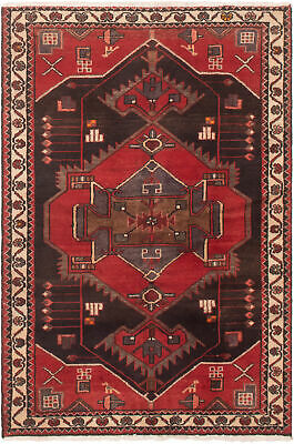"""Hand-knotted Persian Carpet 3'5"""" x 5'1"""" Persian Traditional Wool Rug"""
