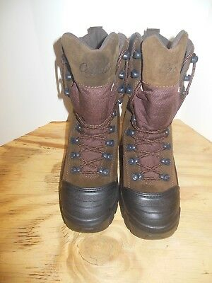 901914db2df CABELAS BROWN LEATHER Dry Plus Thinsulate Boots Hiking Snow Womens 8 ...
