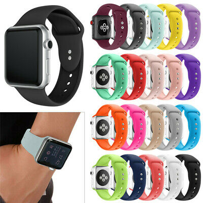 For Apple Watch Series 3 40/44 Soft Replacement Silicone Wrist Sport Band Strap