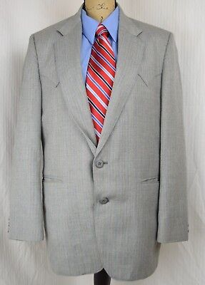 CIRCLE S Dallas Texas Western Gray striped blazer jacket sport coat 42R RN 25832
