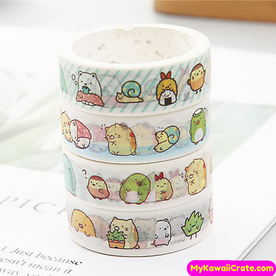 Kawaii Sumikko Gurashi and Friends Washi Tape ~ Cute Masking Tape Planner Decor