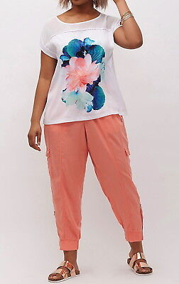 $70 Lane Bryant SIDE ZIP JOGGER Cargo Pants Wine Plus Size 18//20 2X Pull Up NWT