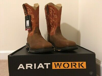 cc7d9775728 MENS ARIAT WORKHOG Wide Square Toe H2O CT Leather Work Boots sz 10 D ...