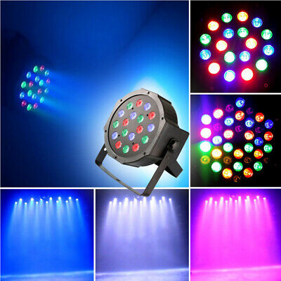 RGB LED Stage Lights DISCO Ball Effects Strobe Changing Hopping Mix Color 29F6