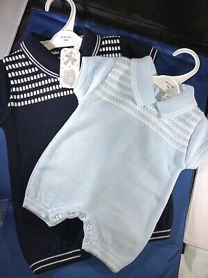 3mth SALE Baby Boys Navy Blue /& Red Dungarees /& T-Shirt Set 18mths ☆