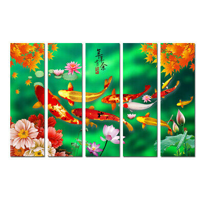 Large Framed Canvas Abstract Art Print Paintings Feng Shui Fish Koi Wall Decor