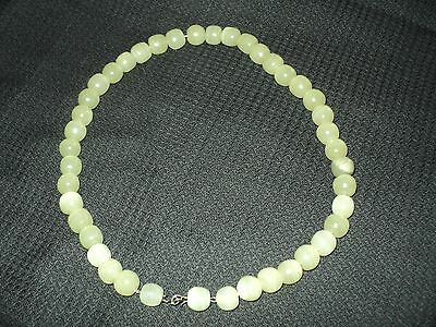 Rare Very Old Collectible Celadon Jade Stone Necklace