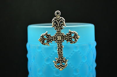 Medieval Desgin Religious Cross 925 Sterling Silver Pendant Charm #a2229
