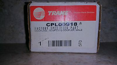 TRANE Coupling; .75 npti x quick coupler, male, brass CPL00918