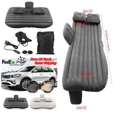 Car Back Seat Inflatable Air Bed Mattress Outdoor Sofa&Pillow for Camping Travel