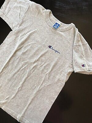 602a015765d9 Vintage Champion T Shirt Size Large Heathered Grey Made In USA 80s 90s Vtg