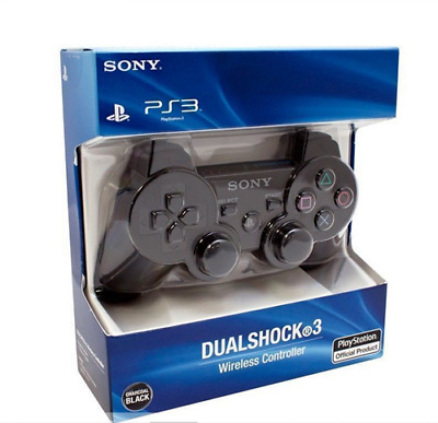 Brand NEW Sny PlayStation 3 PS3 DualShock 3 Wireless SixAxis Controller - Black