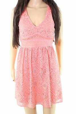 0f1d5a3da Taylor & Sage NEW Coral Orange Womens Size Medium M Lace Shift Dress $48 250